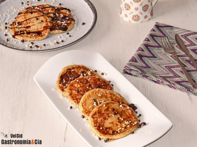 Tortitas de avena, quinoa y plátano