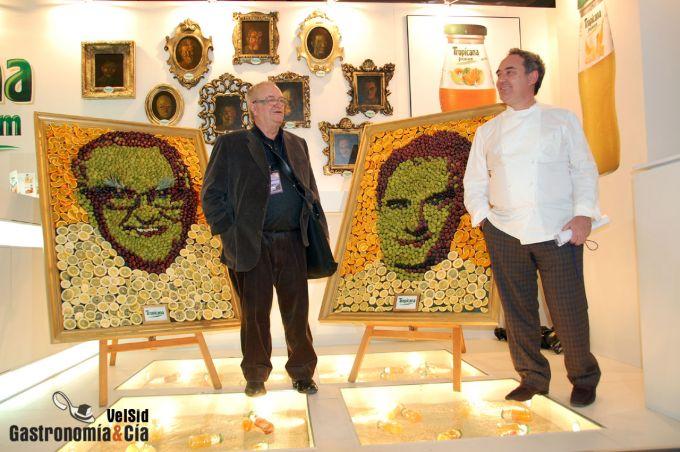 Chefs inmortalizados con frutas