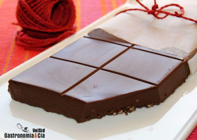 Turrón de chocolate y praliné de avellanas