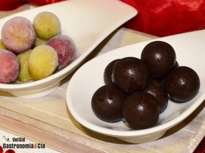 Uvas con chocolate