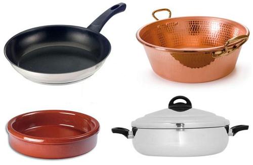 Menaje de cocina qu material utilizar para las distintas for Menaje para cocina