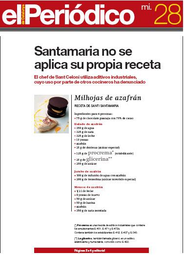 Santi Santamaria, un diez y un suspenso | Gastronomía & Cía