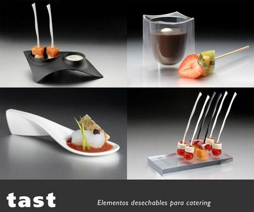 Tast utensilios desechables para catering gastronom a c a for Utensilios de cocina gourmet