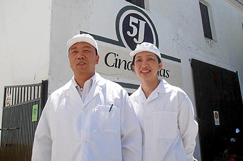 Inspectores chinos jamón
