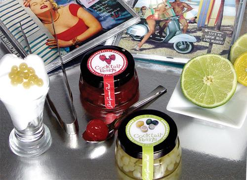 caviar esferico frutas