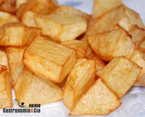 Patatas fritas glicidamina