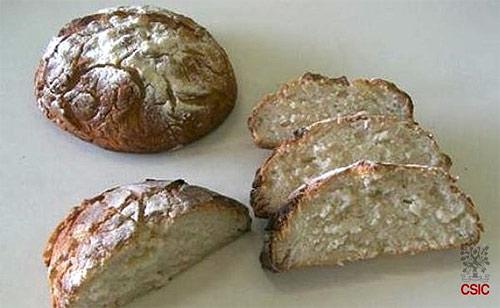 Pan elaborado con harina de arroz