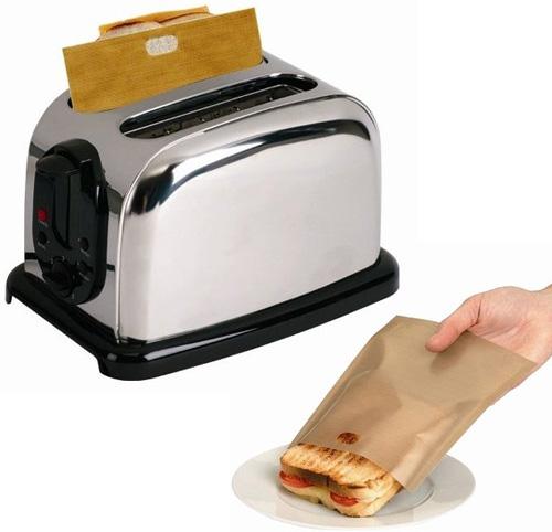 Toastabags bolsas para hacer s ndwiches en la tostadora for Maquina que cocina