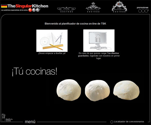 Dise o de cocinas online en the singular kitchen for Simulador cocinas 3d online