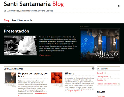 Blog Santi Santamaria