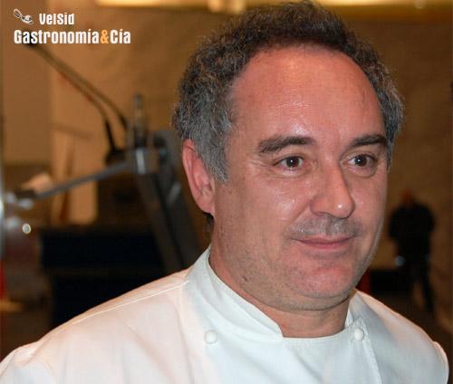 Ferrán Adria en el Forum Gastronomic