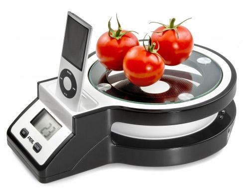 B scula de cocina con conexi n para el ipod gastronom a - Bascula de cocina barata ...