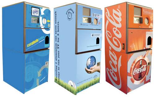 Máquinas expendedoras de reciclaje