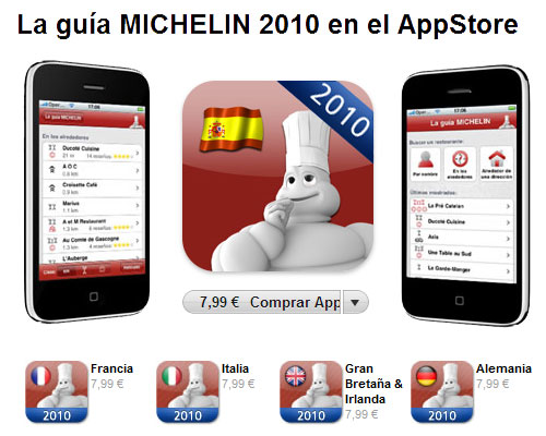 Guía Michelin para iPhone