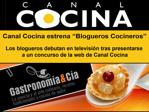 Blogueros cocineros en canal cocina gastronom a c a for Cocineros de canal cocina