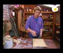 Quiche de jamón, ortigas y espinacas de Jamie Oliver
