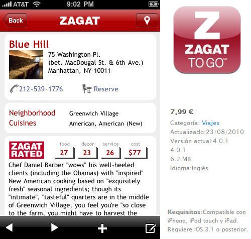 Zagat para iPad