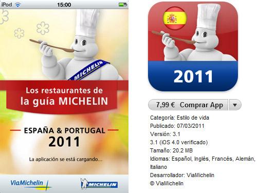 Guía Michelin para iPad