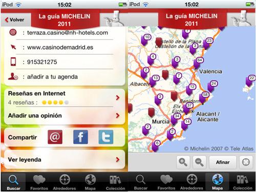 Guía Michelin de España para iPhone