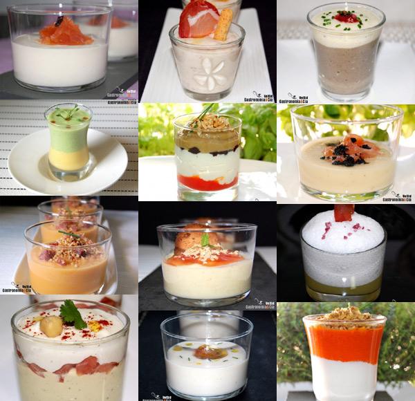 Doce aperitivos en vaso gastronom a c a - Aperitivos frios originales ...