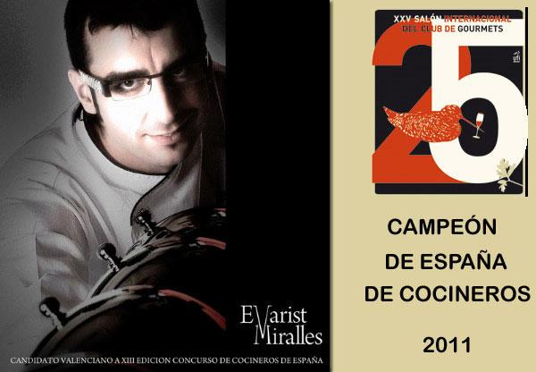 Campeón de España de Cocineros 2011
