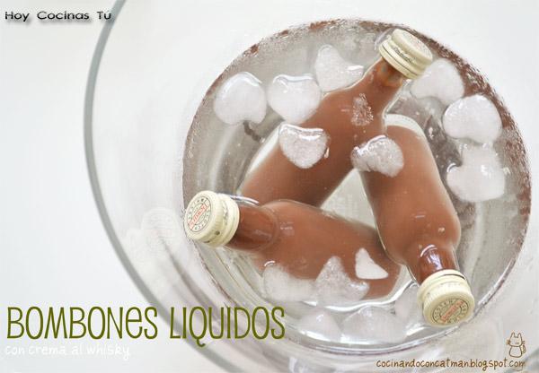 Bombones líquidos de crema al whisky