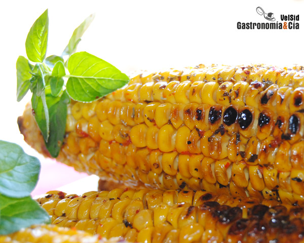 Mazorca Maiz Microondas Mazorcas de Maíz Con Sambal