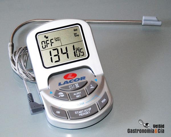 Term metro digital de horno con sonda gastronom a c a for Termometro de cocina