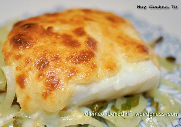 Hoy cocinas t lomos de bacalao gratinado gastronom a c a for Como cocinar bacalao al horno