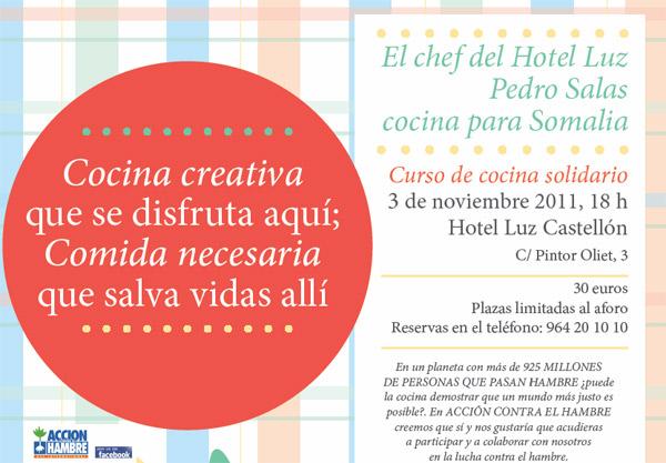 Curso de cocina solidario en el restaurante aqua for Cursos de cocina en castellon