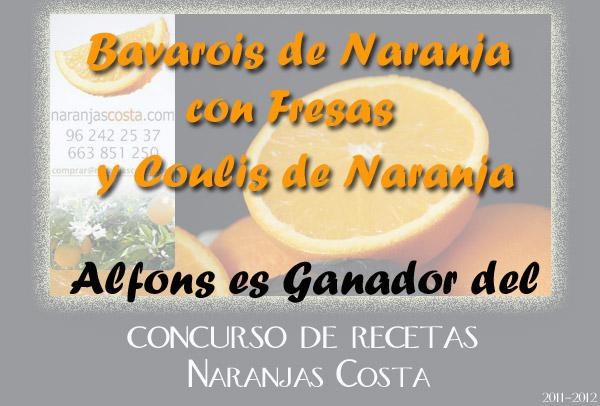 Receta ganadora del Concurso Naranjas Costa (I)