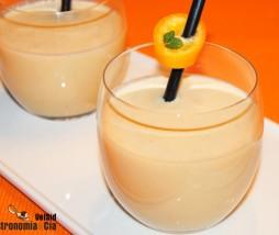 Batido de crema de naranja y turrón de Jijona