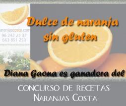 Dulce de naranja para celíacos