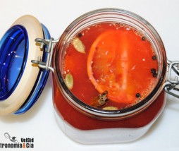 Naranja sanguina en conserva