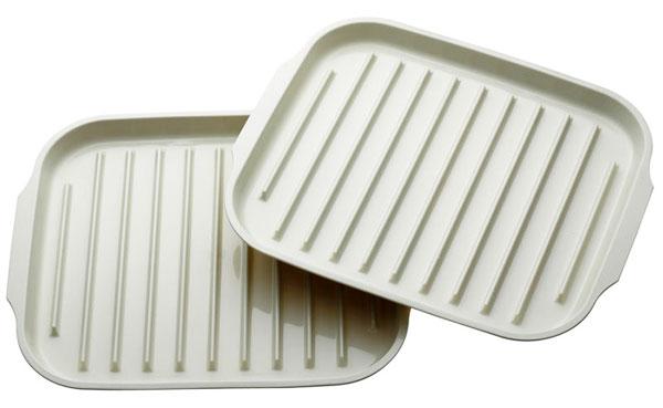 Bandejas para el microondas gastronom a c a for Utensilios de cocina para microondas