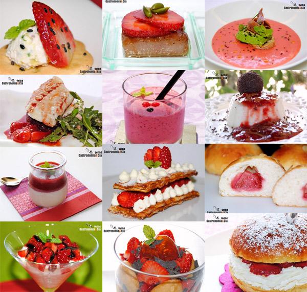 Recetas con fresas y fresones