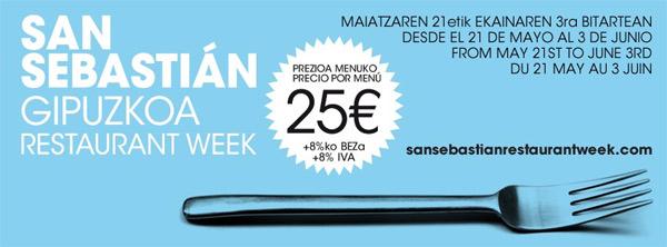 Donostia Restaurant Week