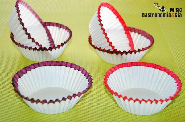 Decorar cápsulas para cupcakes