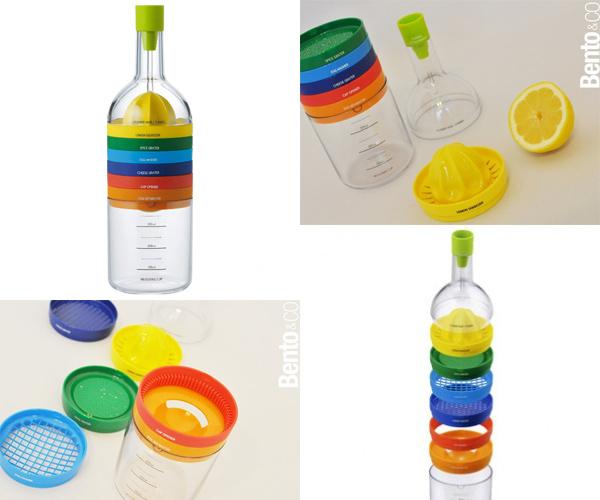 gadgets de cocina en una botella