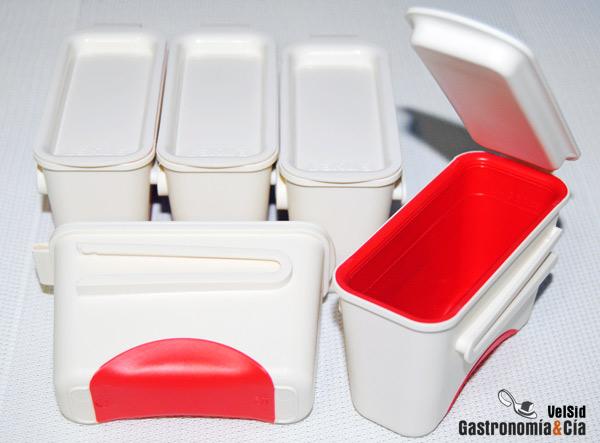Recipientes herméticos para guardar salsas u otras elaboraciones