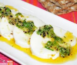 Mozzarella con cilantro y limón