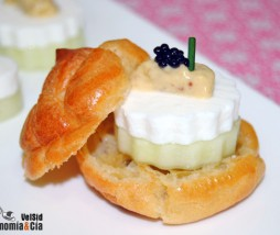Pepino, queso fresco y mostaza