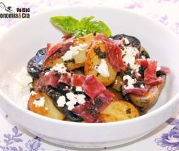 Receta con patatas violetas, patatas ratte y patatas baby
