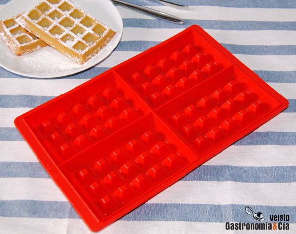 Molde de silicona Lékué para hacer gofras, waffles o gaufres