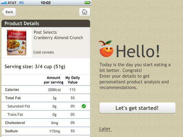 Alimentos modificados genéticamente en iPhone