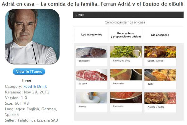 Adri en casa app de recetas de ferr n adri for Ferran adria comida