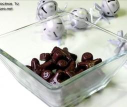 Bombones de chocolate y jengibre confitado