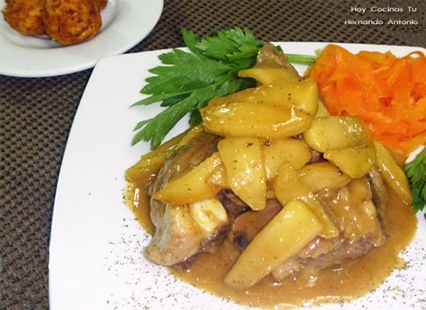receta de cerdo con manzana