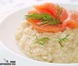 Receta de risotto con hinojo y salmón