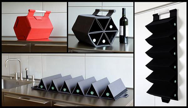 Botellero de vino y bolsa de transporte